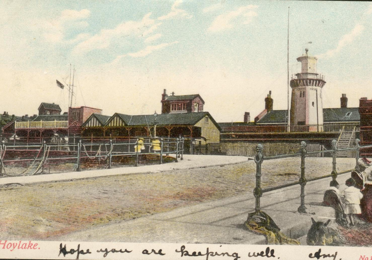 Lifeboat Station slipway, early 1900s. Note the beach level is at the bottom of the slipway. The first of these railings is now almost completely submerged.