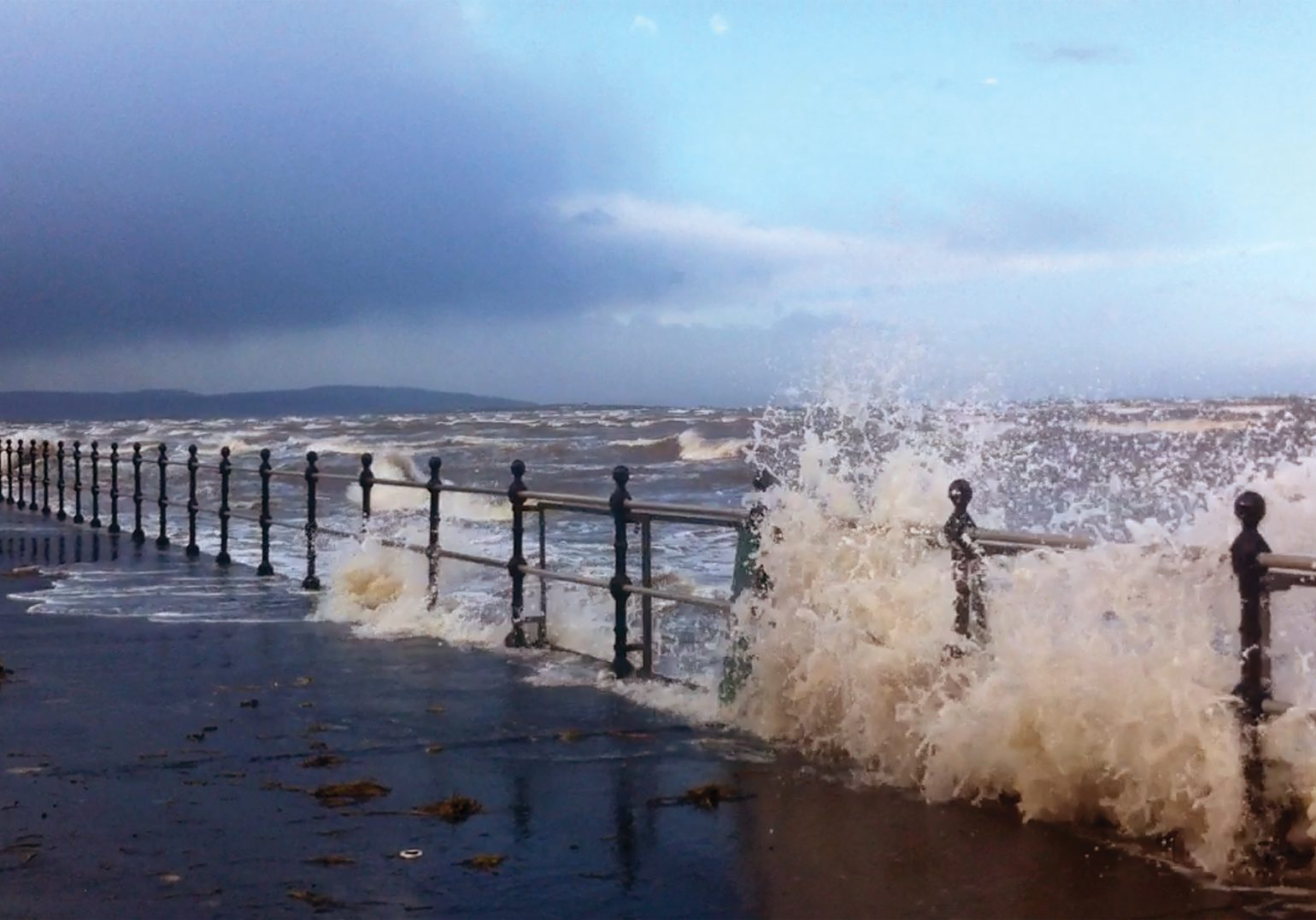 Extreme weather events are set to increase in frequency. Will Hoylake's coastal defences, built in1897, be sufficient in years to come? © HVL