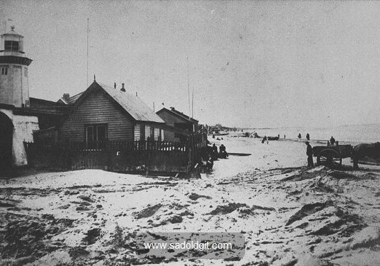 The Lower Lighthouse at the end of Alderley Road late 1880s